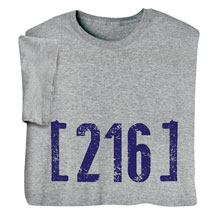 Personalized Area Code Tee