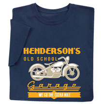 "Personalized ""Your Name"" Old School Garage Tee"