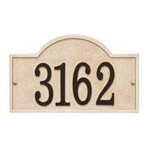 Personalized Stonework Arch Address Plaque