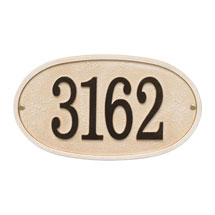 Personalized Stonework Oval Address Plaque