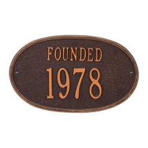 "Personalized ""Founded"" Plaque"