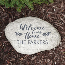 """Personalized """"Welcome"""" Family Name Garden Stone"""