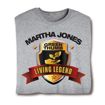 """Personalized """"Your Name"""" Living Legend Series - Green Thumb Tee"""