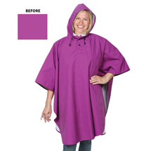 Magic Rose Pattern Water Reveal Rain Poncho - Aster Purple