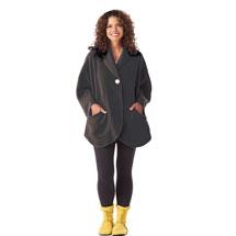 Fleece Pocket Cape - Black
