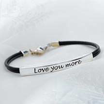 Love You More Bracelet - Sterling Silver