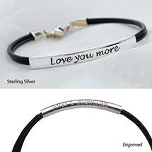 Love You More Bracelet - Sterling Silver Engraved