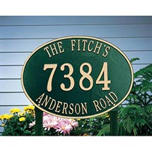 Personalized Address Plaque - Hawthorne/Lawn