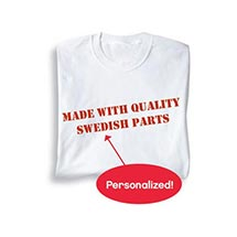 Personalized Made With Quality Parts Shirt