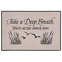 Take A Deep Breath - You're At The Beach Now Doormat