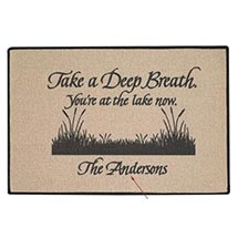 Personalized 'Take A Deep' Breath Doormat