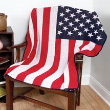 USA Flag Recycled Cotton Throw