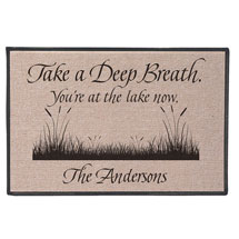 Personalized Take A Deep Breath - You're At The Lake Now Doormat