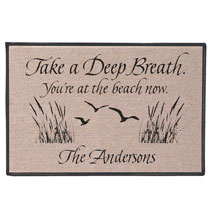 Personalized Take A Deep Breath - You're At The Beach Now Doormat