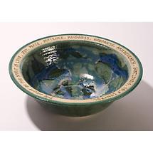 Wedding Bowl - Engraved Handmade Stoneware