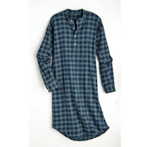 Green Tartan Irish Grandfather Nightshirt