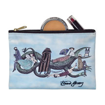 Edward Gorey Zipper Pouch - Dragon