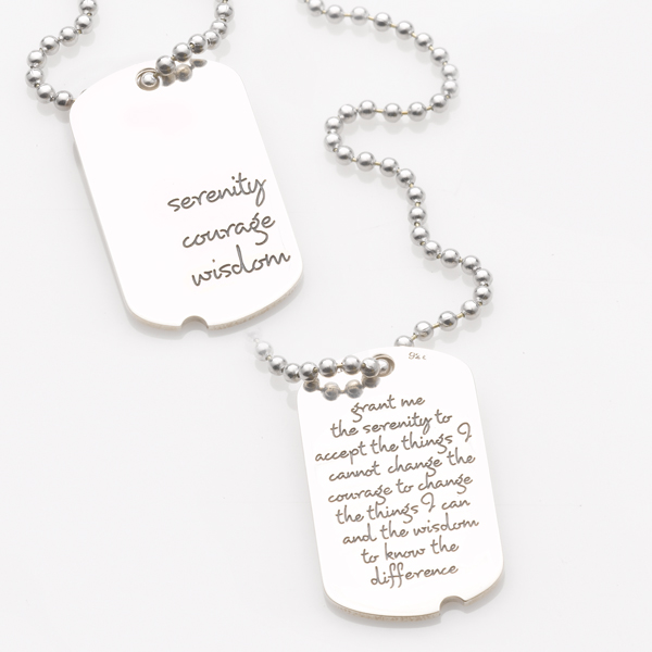 THOMAS & LAUREL DVB NEW YORK Serenity Dog Tag Necklace - Sterling Silver at Sears.com