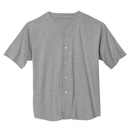 Grey Heather Solid Baseball Jersey
