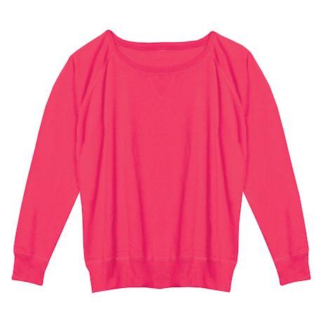 Hot Pink Ladies Sweatshirt