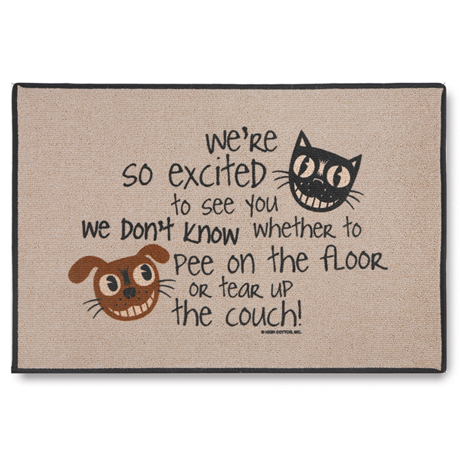 We Are So Excited To See You... Doormat