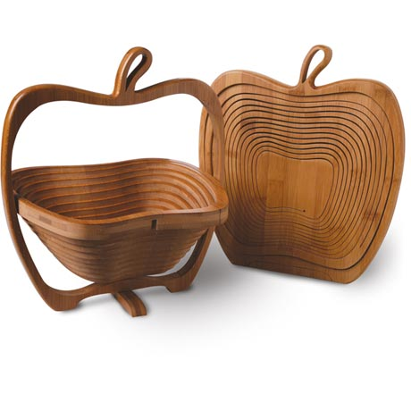 Bamboo Folding Apple Basket