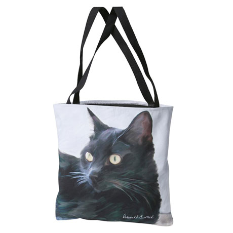 Paws and Whiskers Tote - Black Cat