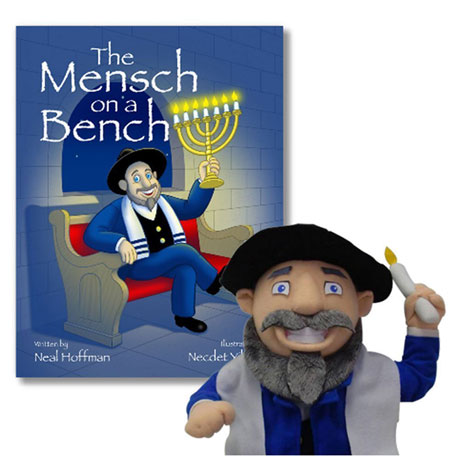 Mensch on a Bench Book, Bench, and Doll