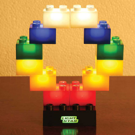 LED Light Up Building Blocks Set of 12
