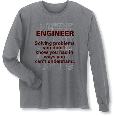 Engineer Solving Problems Long Sleeve T-Shirt