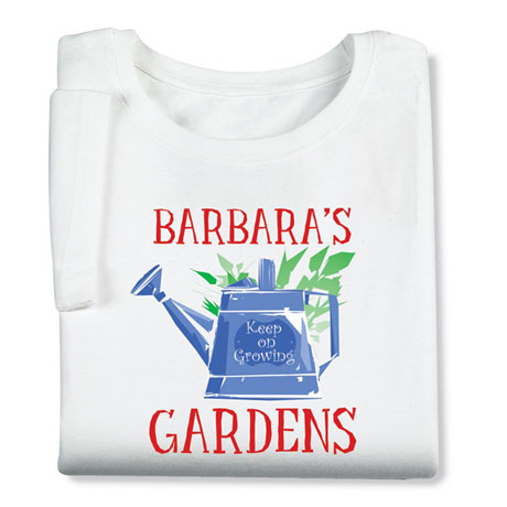 "Personalized ""Your Name"" Gardens Lover Watering Can Shirt"