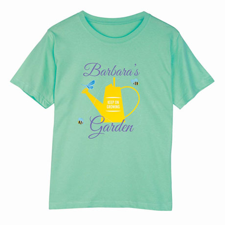 "Personalized ""Your Name"" Garden Lover Shirt"