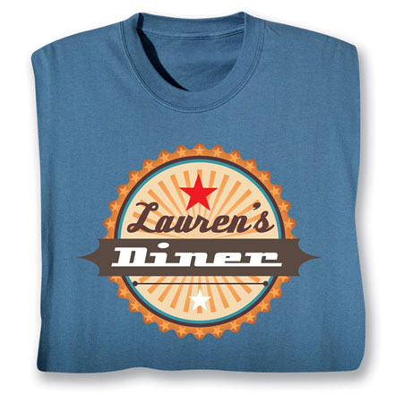 "Personalized ""Your Name"" Retro Diner Shirt"