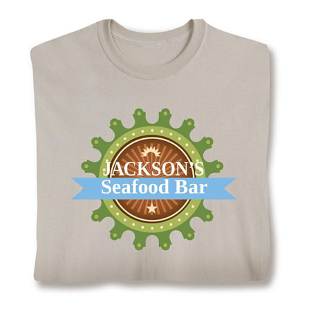 "Personalized ""Your Name"" Seafood Bar Shirt"