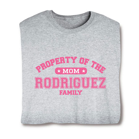"Personalized Property of ""Your Name"" Mom Athletic T-Shirt"