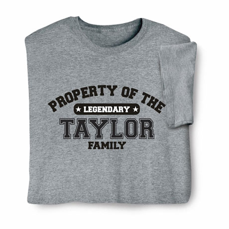 "Personalized Property of ""Your Name"" Athletic T-Shirt"