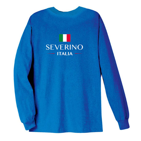 "Personalized ""Your Name"" Italian National Flag Shirt"