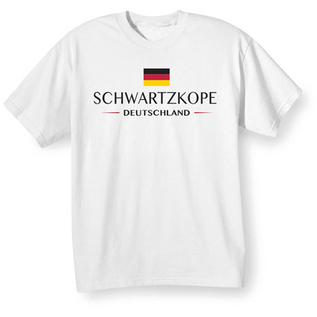 "Personalized ""Your Name"" German National Flag Shirt"