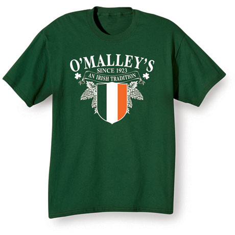 "Personalized ""Your Name"" Irish Tradition Shirt"