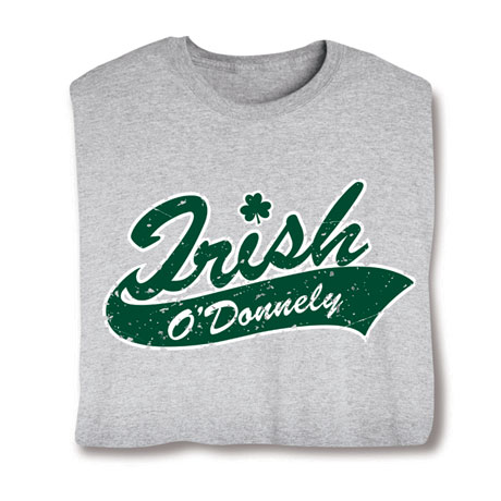 "Personalized Irish ""Your Name"" Underline Shirt"