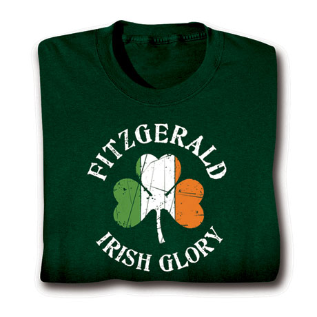 "Personalized ""Your Name"" Irish Glory Shirt"