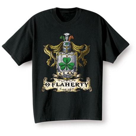 "Personalized ""Your Name"" Irish Family Clan Shirt"