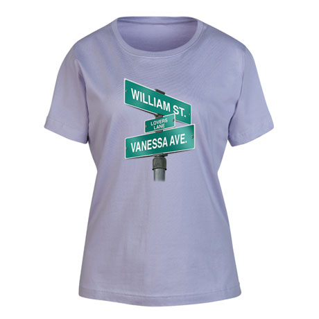 "Personalized ""Your Name"" Lovers Lane Shirt"