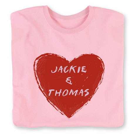 """Personalized """"Your Name"""" Couple Heart Shirt"""