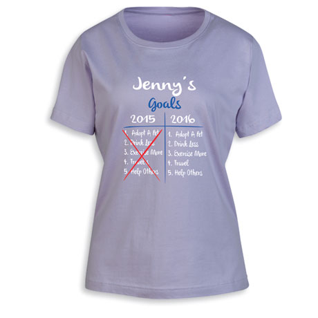 """Personalized """"Your Name""""  Goal Shirt - Funny Redo 2015 Goals"""