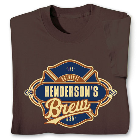 "Personalized ""Your Name"" Custom Brew T-Shirt"