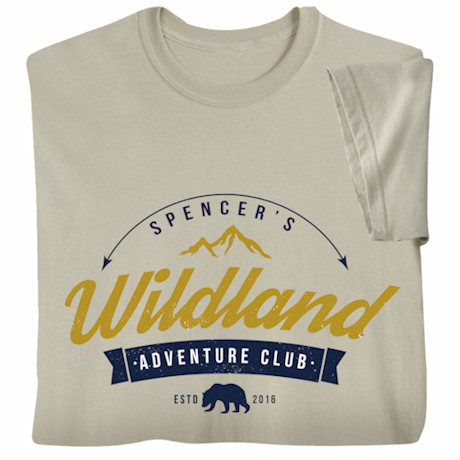 "Personalized ""Your Name"" Adventure Club T-Shirt"
