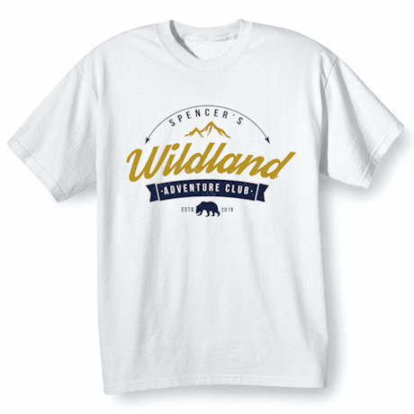 """Personalized """"Your Name"""" Adventure Club T-Shirt"""