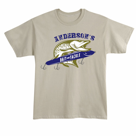 "Personalized ""Your Name"" Bait and Tackle T-Shirt"
