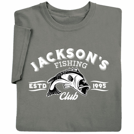 """Personalized """"Your Name"""" Fishing Club T-Shirt"""